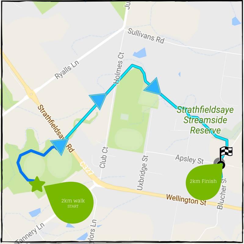 Strathfieldsaye Community Fun Run Route