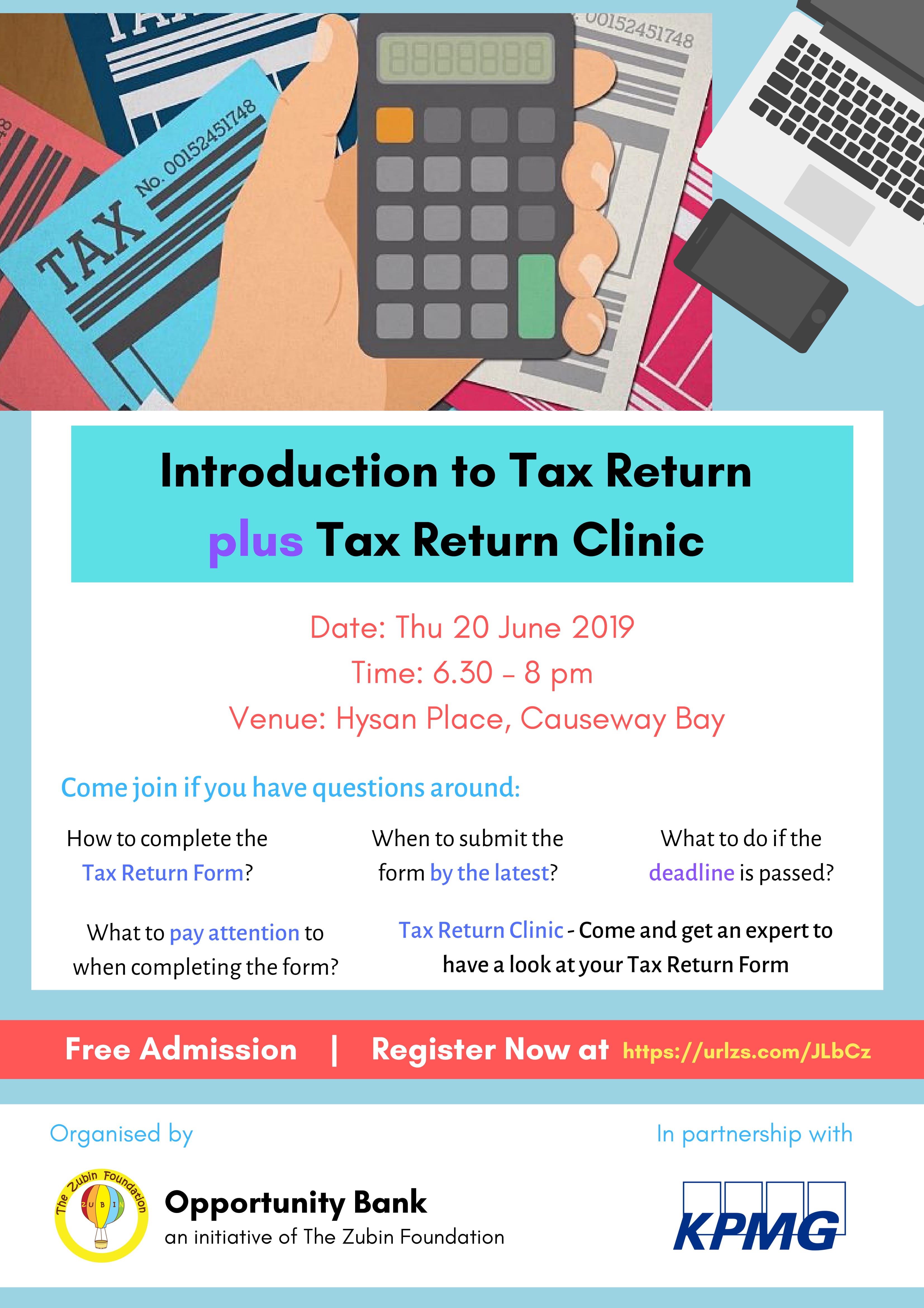 Tax Return Workshop 20 Jun