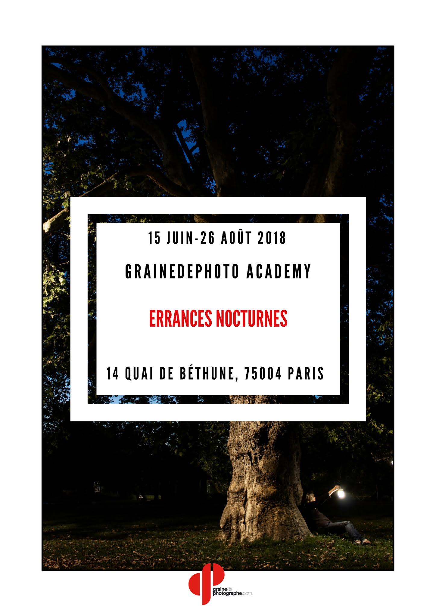 Errances Nocturnes Grainedephoto Academy