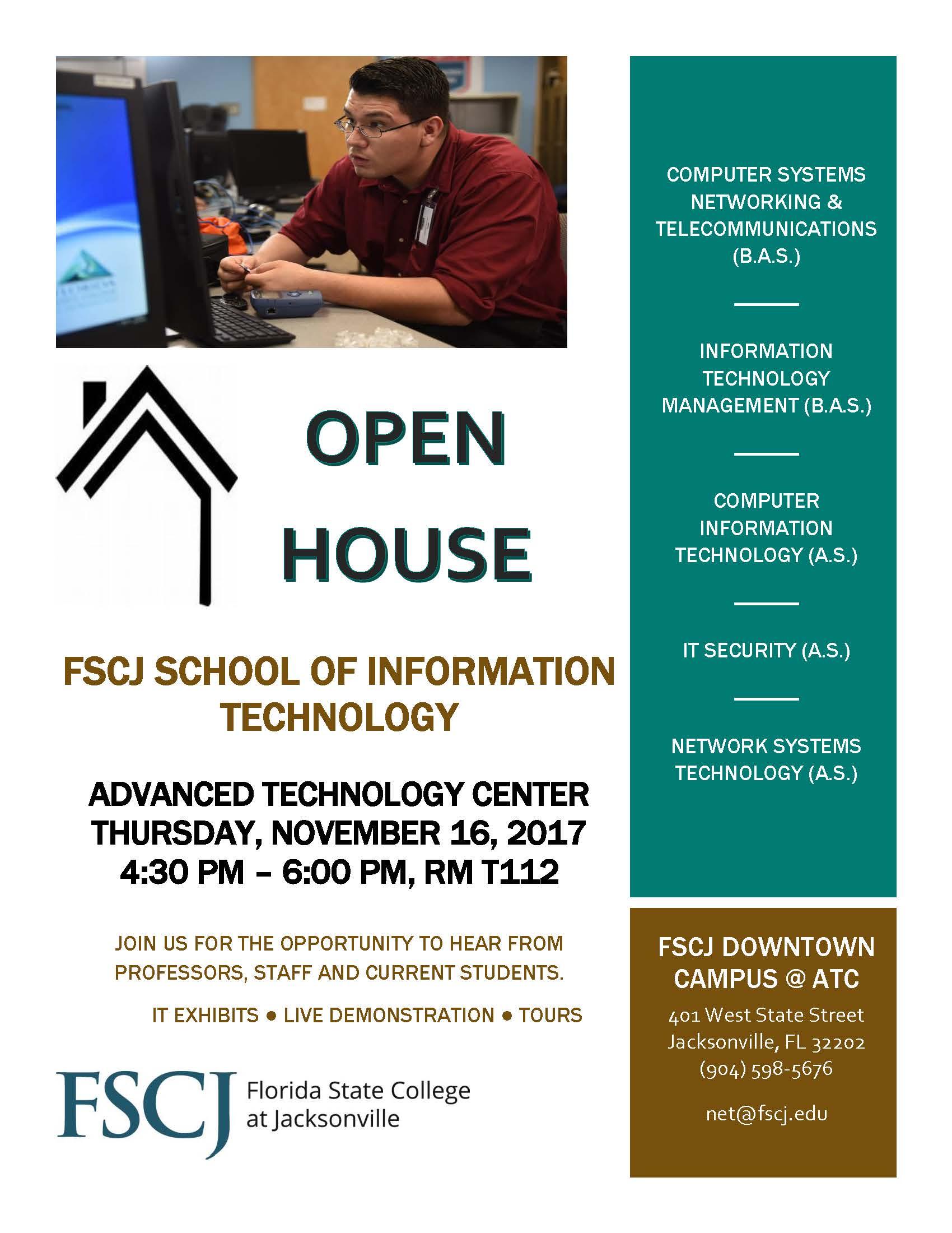 FSCJ Open House Flyer