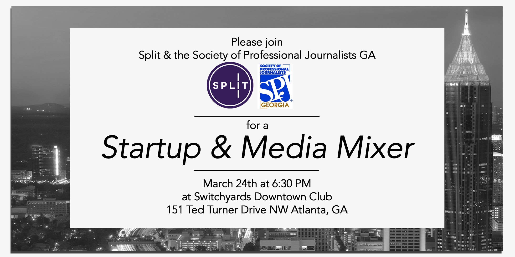 Split and SPJ invite you to a Startup & Media Mixer