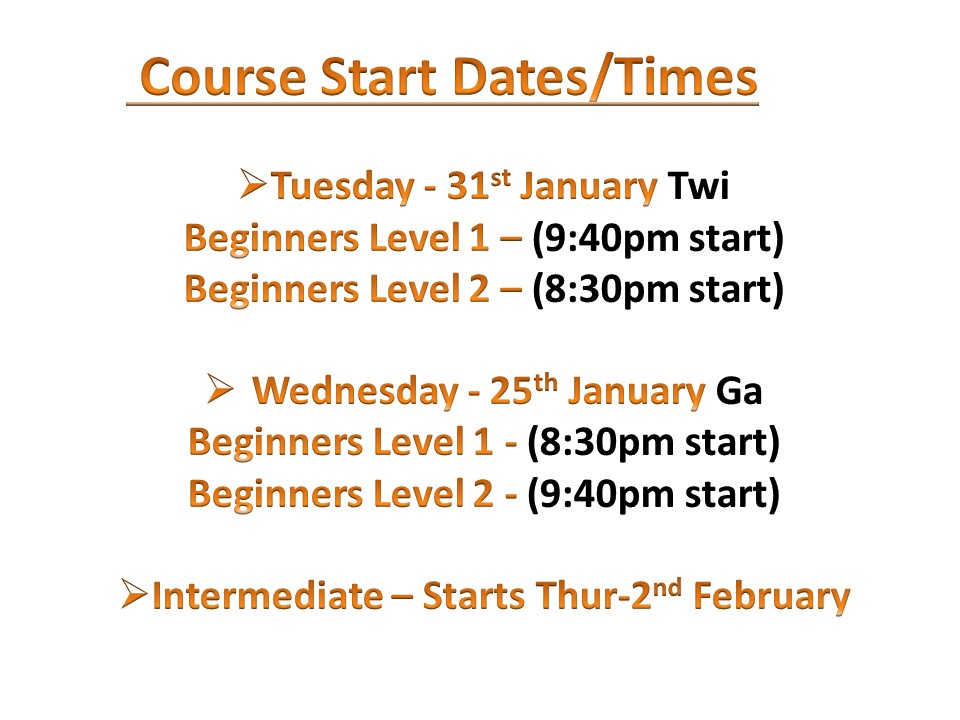 Course Date/Times
