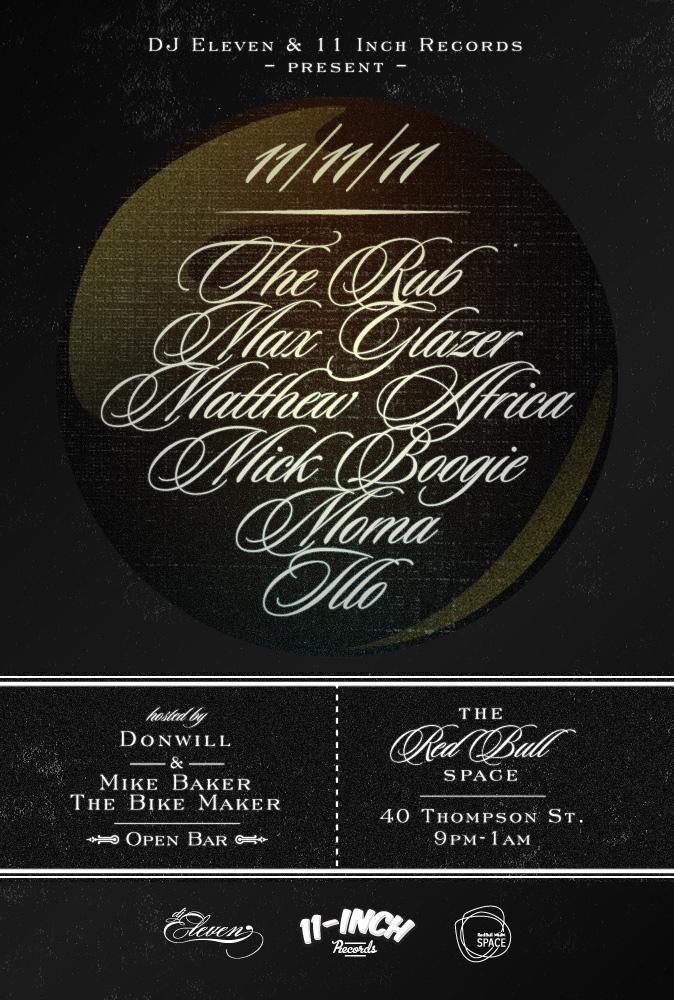 11.11.11 DJ Eleven invite