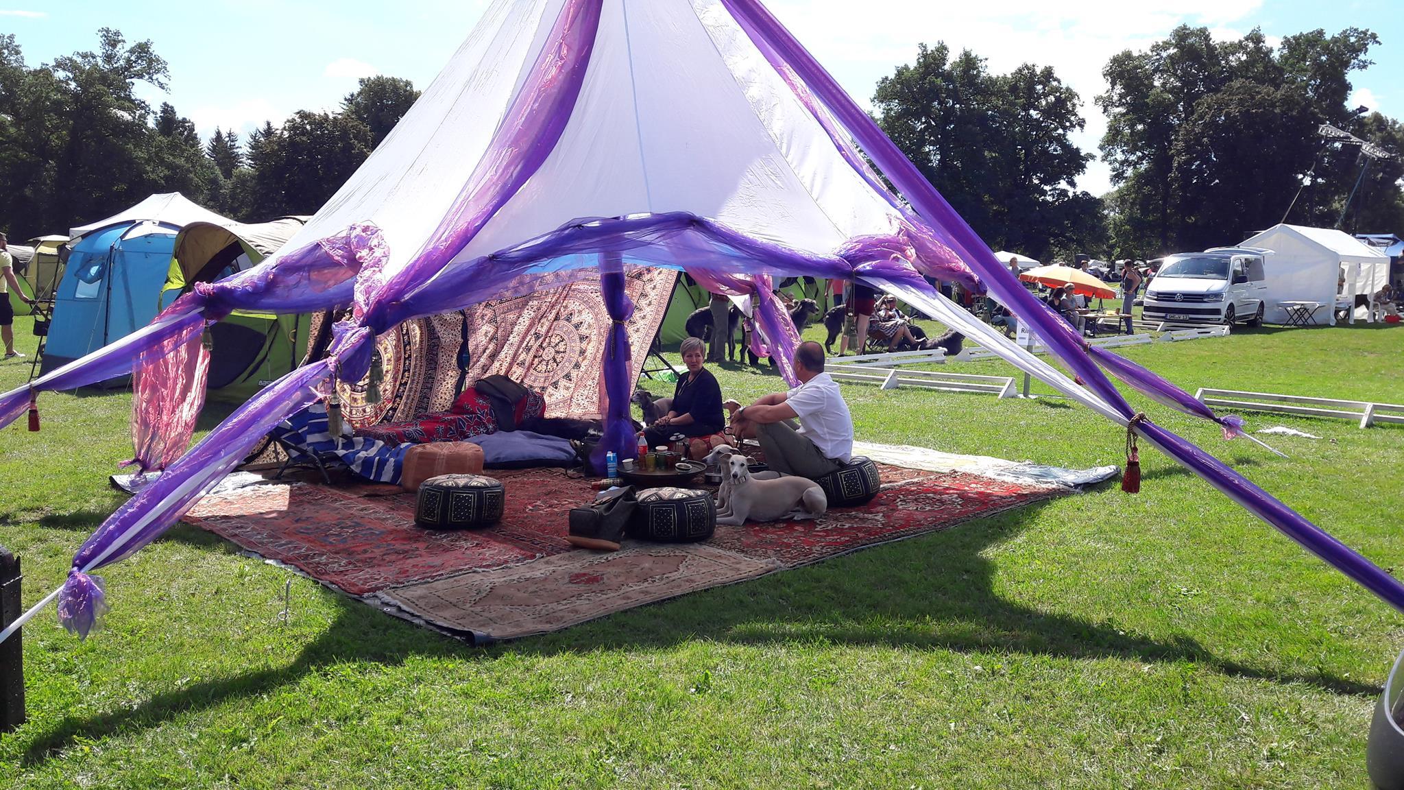 Standzelt Windhund Festival Donaueschingen