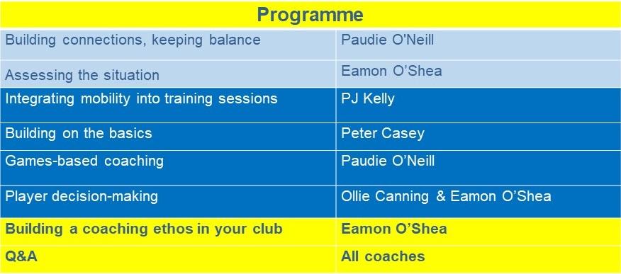 Programme of workshops