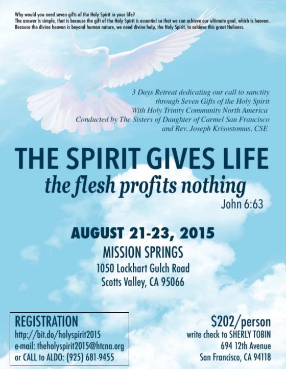 The Spirit Gives Life, The Flesh Profits Nothing