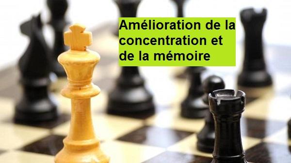 concentration et mémoire