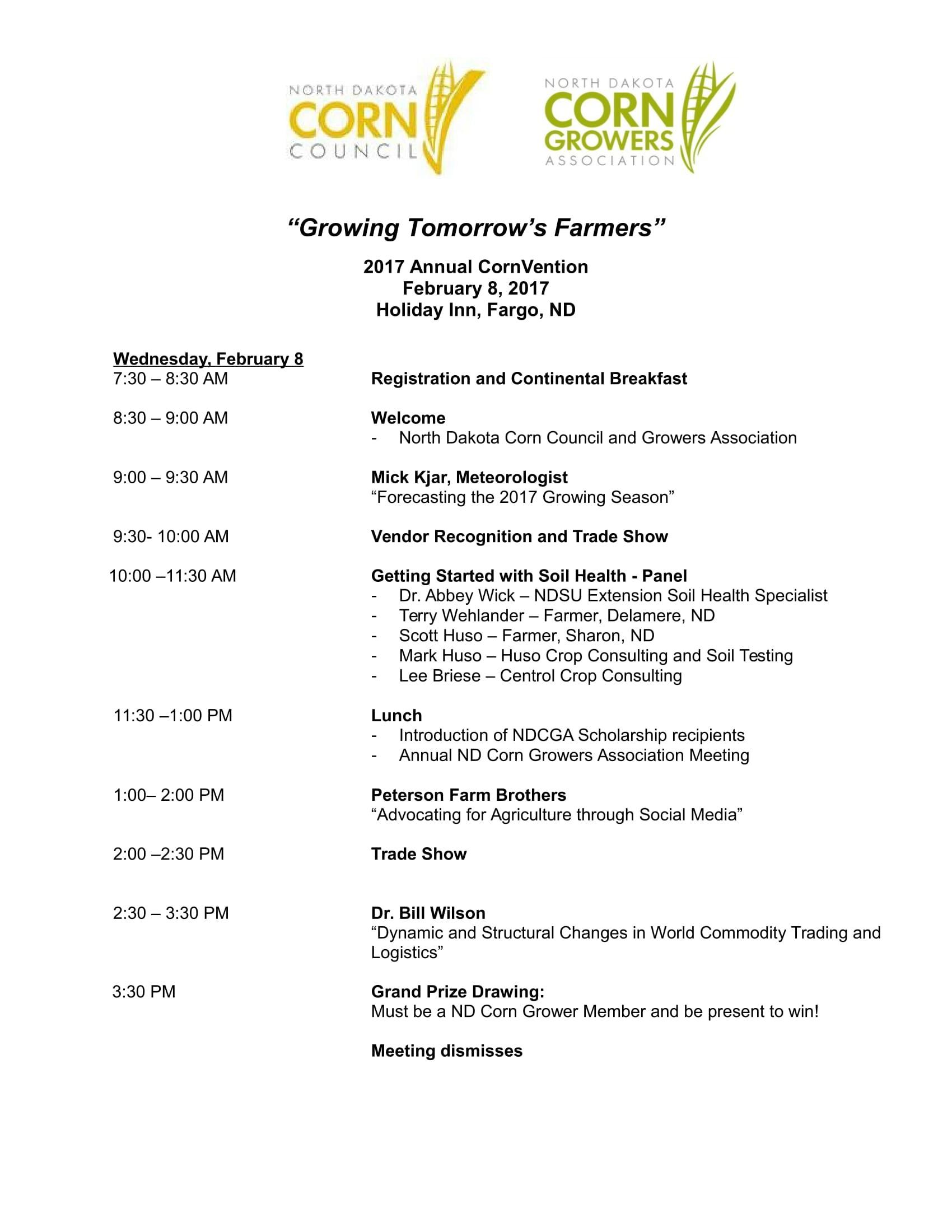 CornVention Schedule