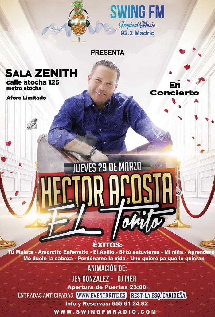 Hector acosta el torito concierto bachata madrid zenith