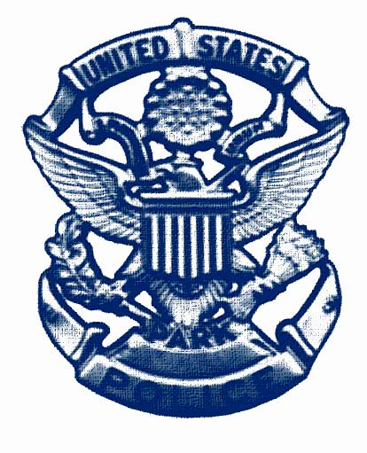 USPP Badge - Blue lined