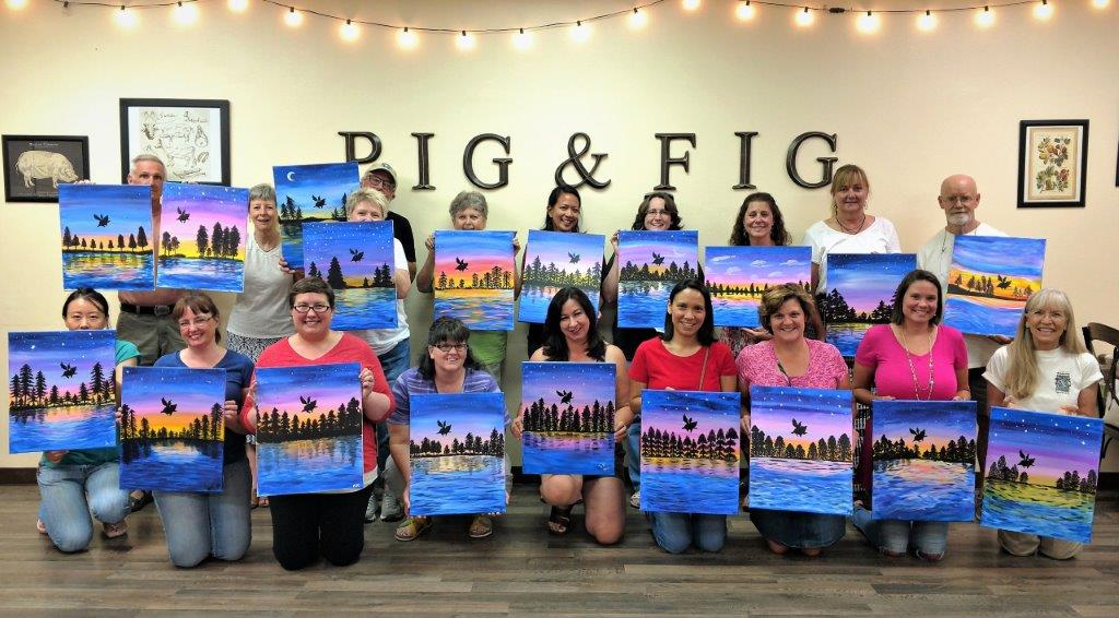 Pig + Fig Adult Paint Party Class