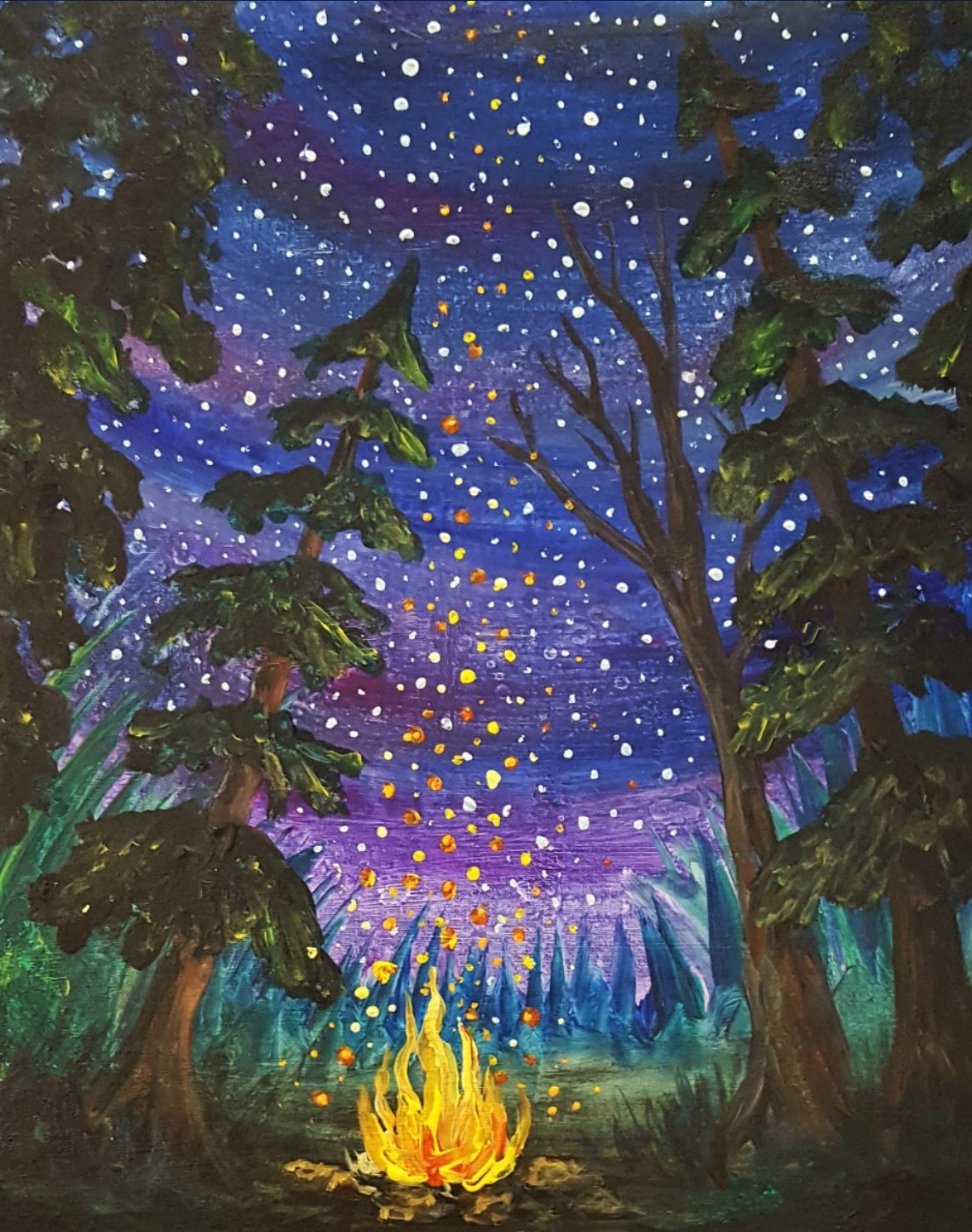 Adult Paint Party:  Summer Night Sky