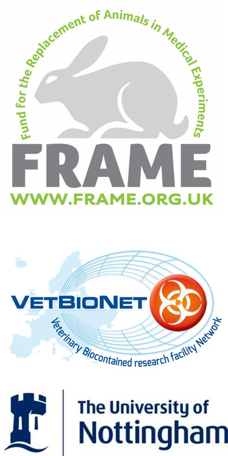 FRAME, VetBioNet and University of Nottingham logos