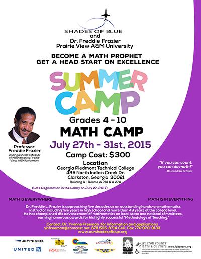 Math camp flyer
