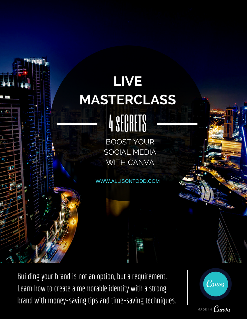 4 Secrets to Boost Your Social Media CANVA by Allison Todd