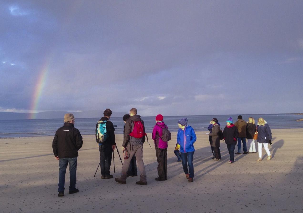 Dawn chorus on Silver Strand