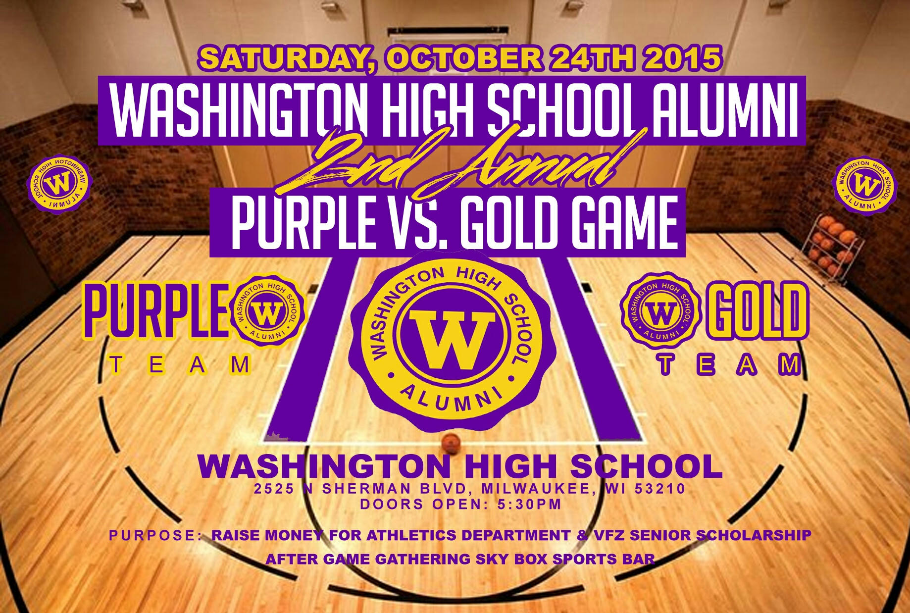Alumni Game Flyer