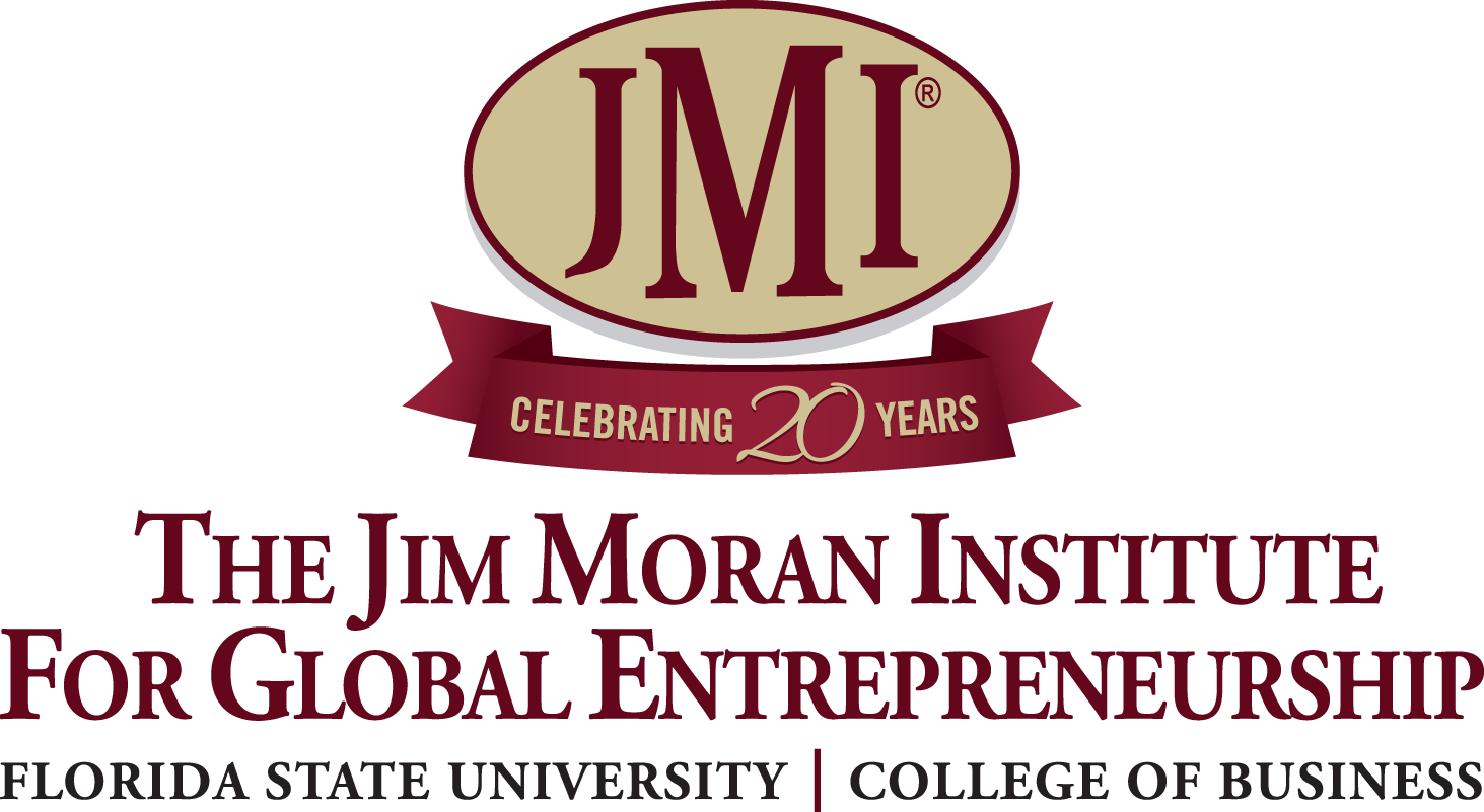 Jim Moran Institute's 20th Anniversary Logo
