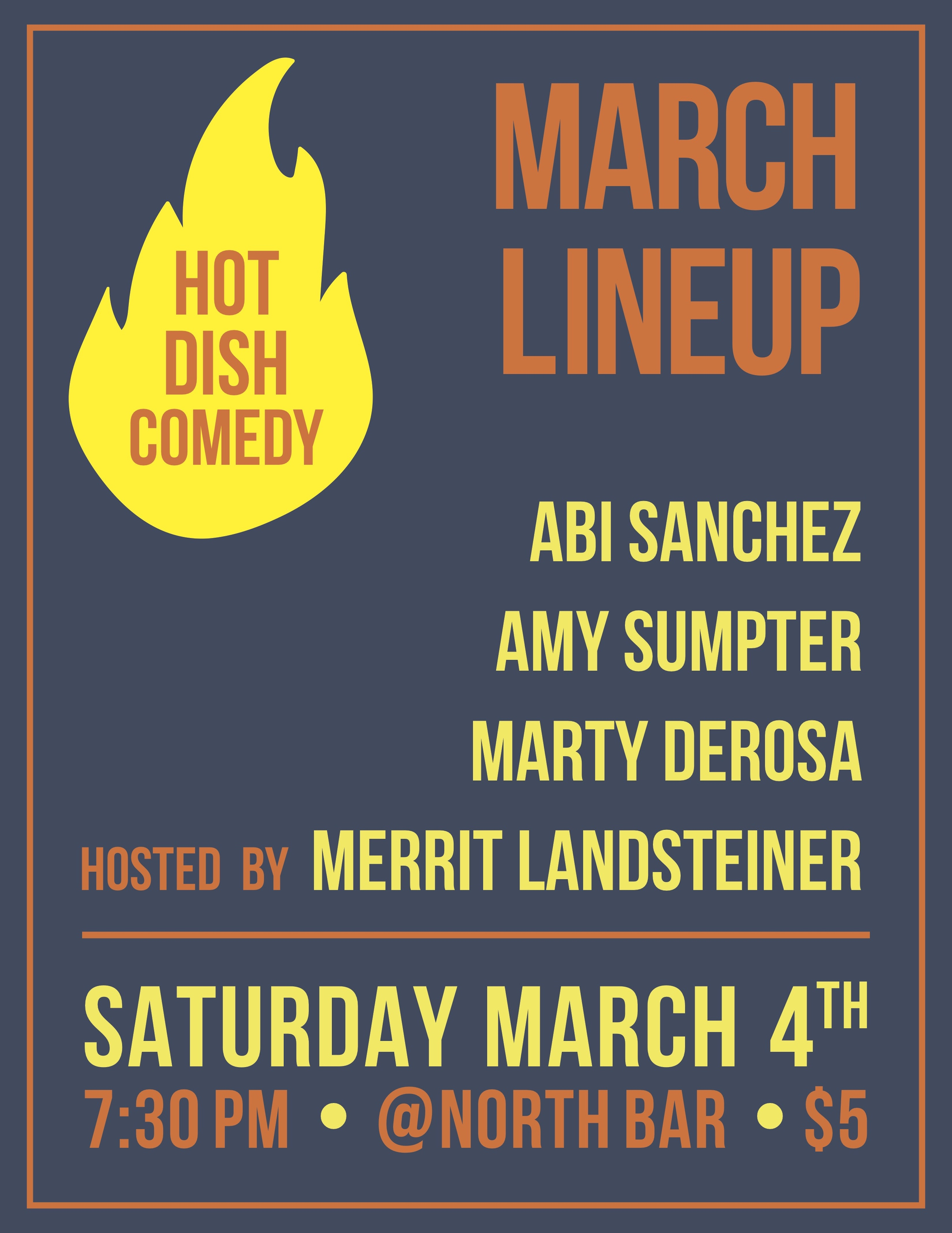 March Line Up