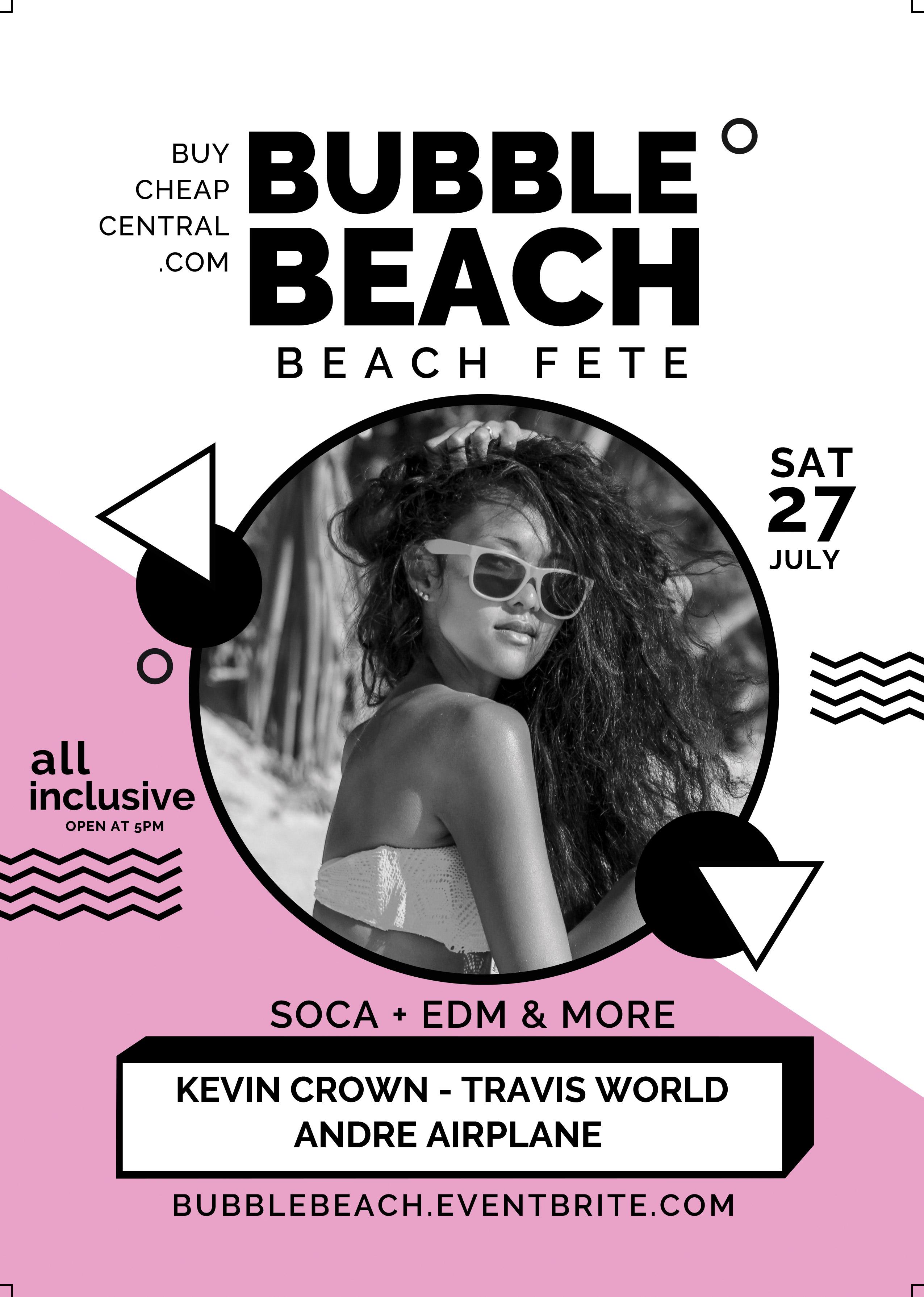 Bubble Beach Flyer