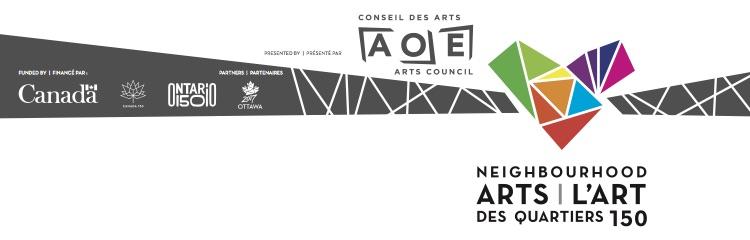 Logo Arts des quartiers avec partenaires financiers