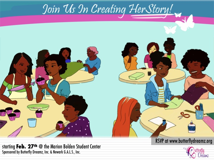 HerStory Front Flyer