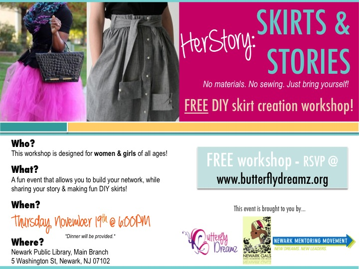 HerStory: Skirts & Stories Flyer