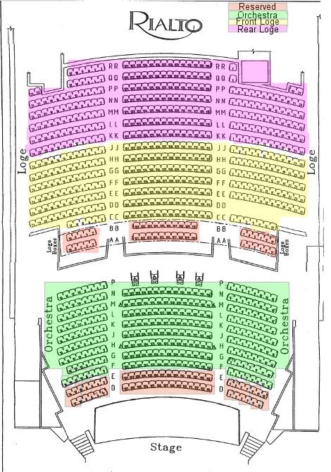 Rialto Seating Chart