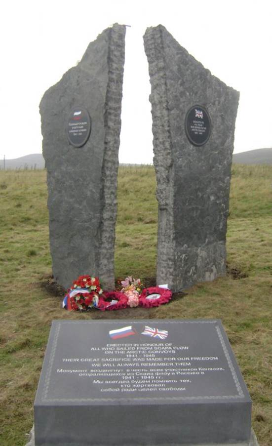 Memorial to the Arctic Convoys of WW1