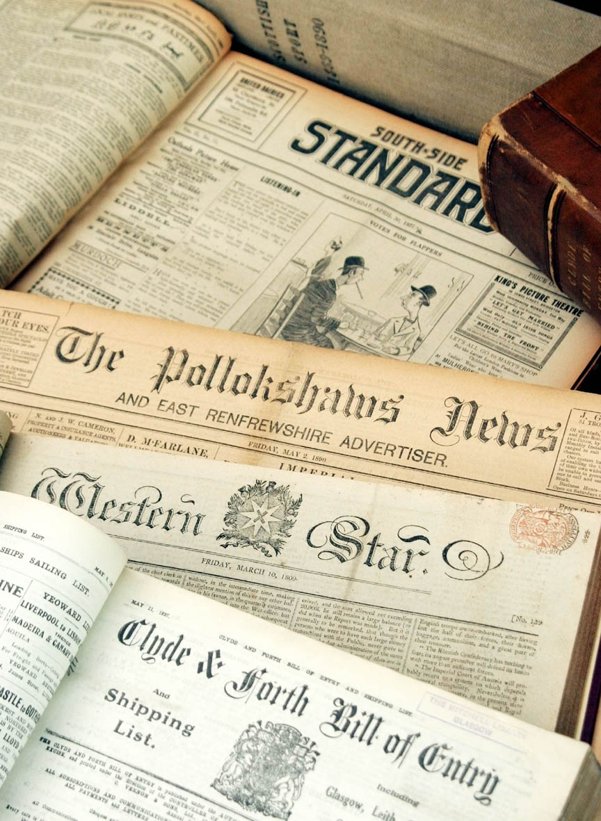 Selection of newspapers