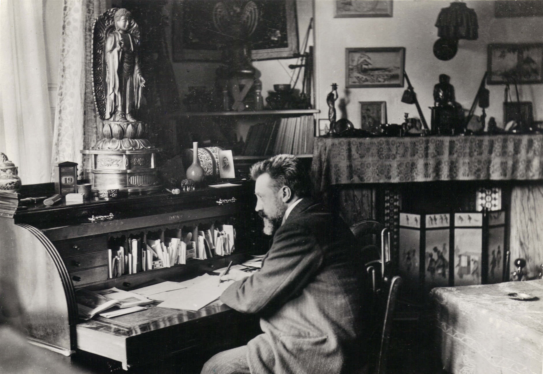 Granville Bantock at his desk