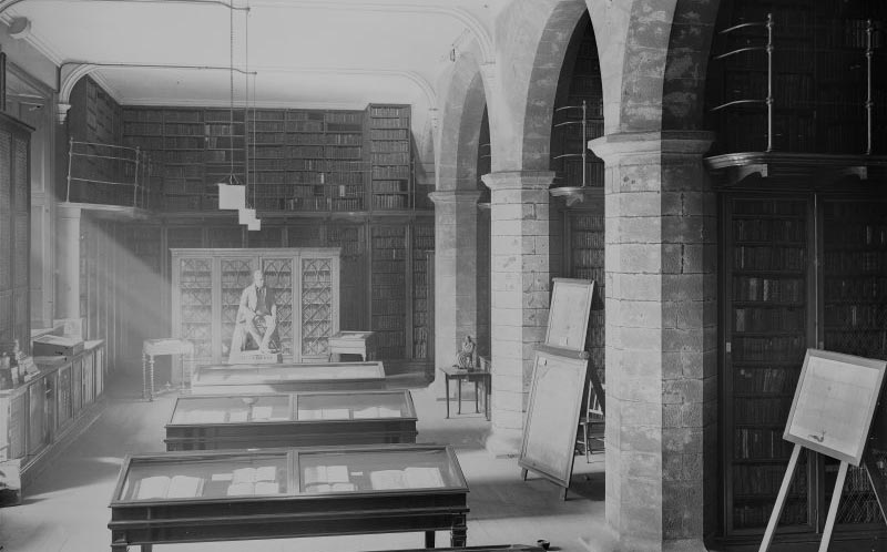 Black and White image of the Advocates Library