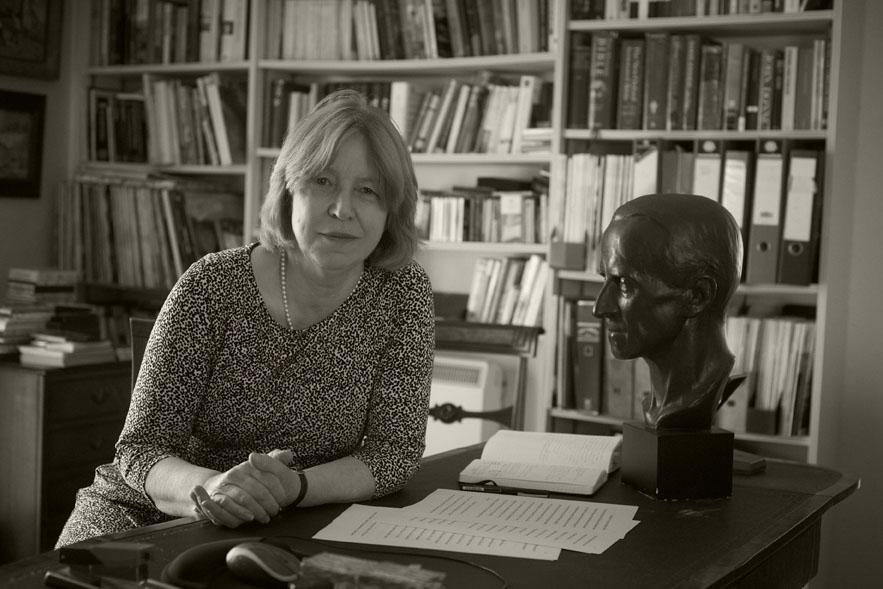 Black and white image of Ursula Buchan