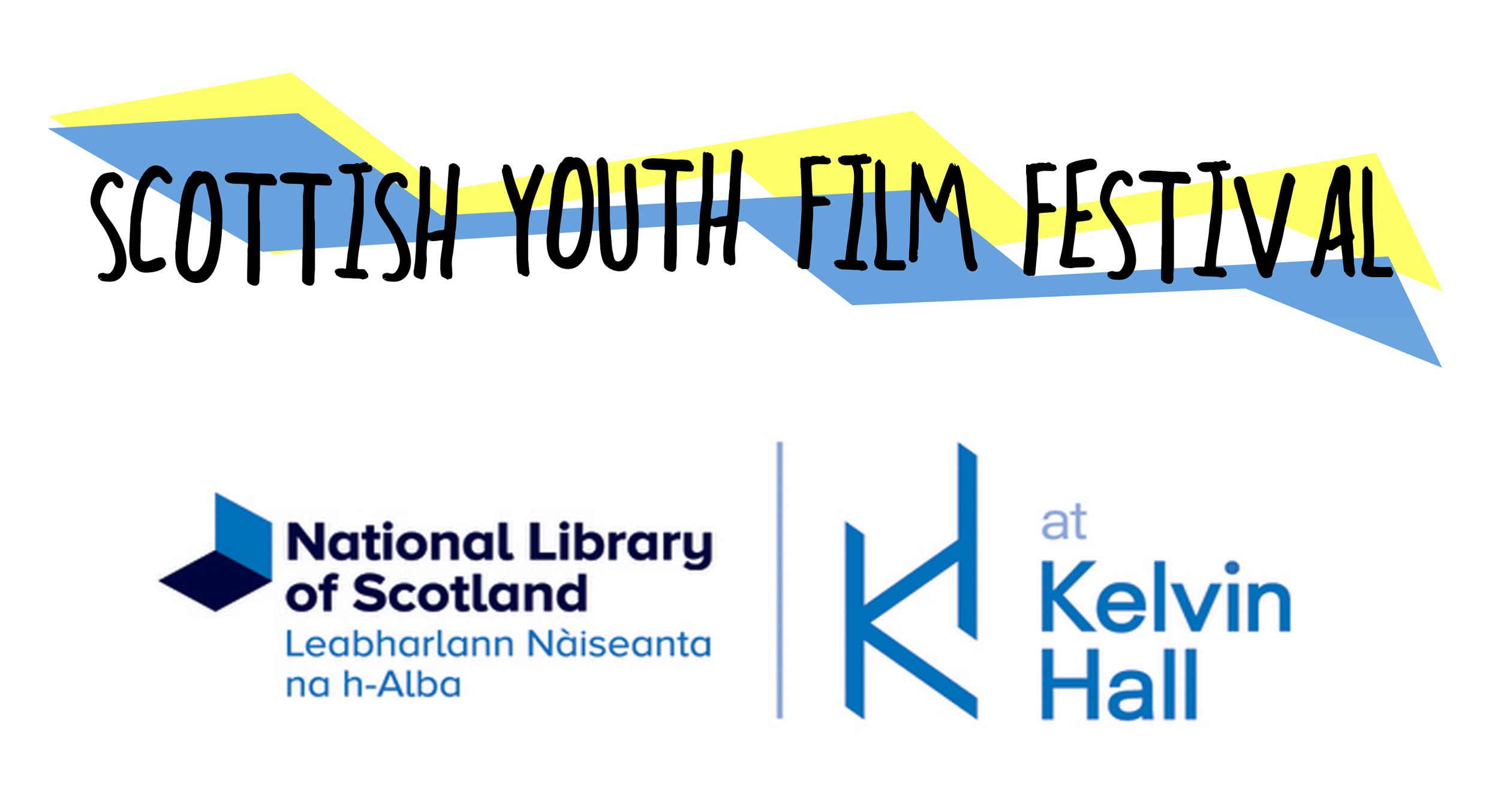 National Library of Scotland at Kelvin Hall logo and th Scottish Youth Festival logo
