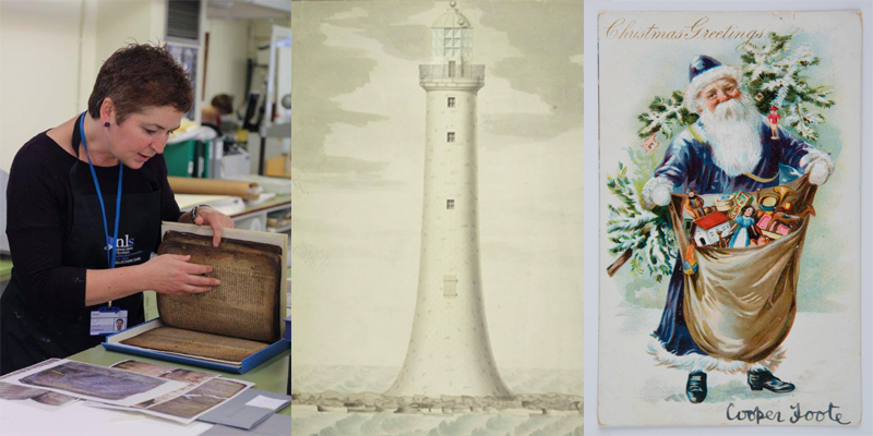 Image of a Conservator, a lighthouse and a Christmas Card