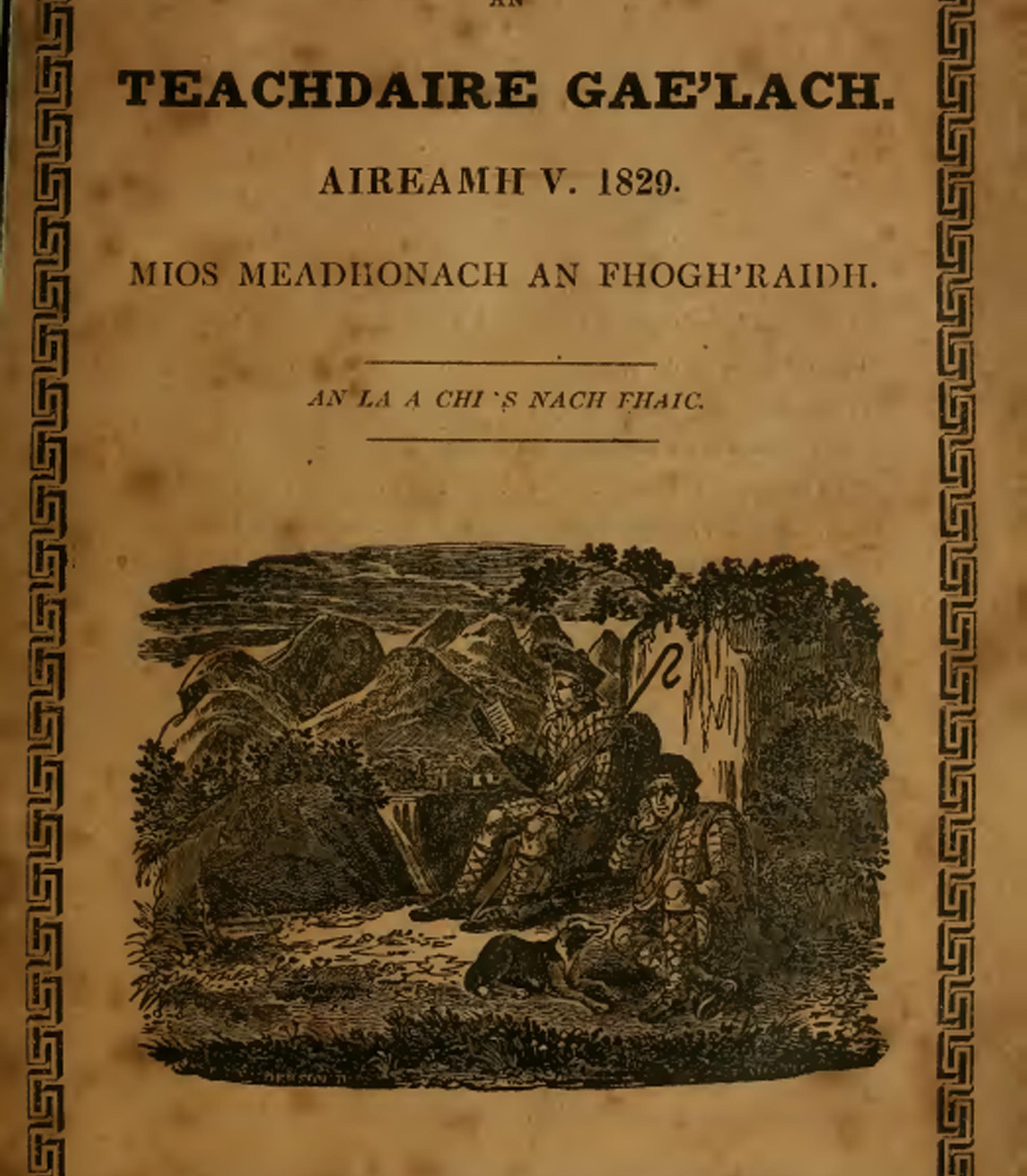 Cover of Teachdaire Gae'lach booklet