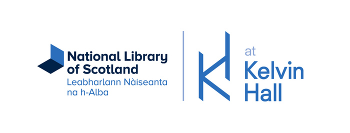 National Library logo with Kelvin Hall logo