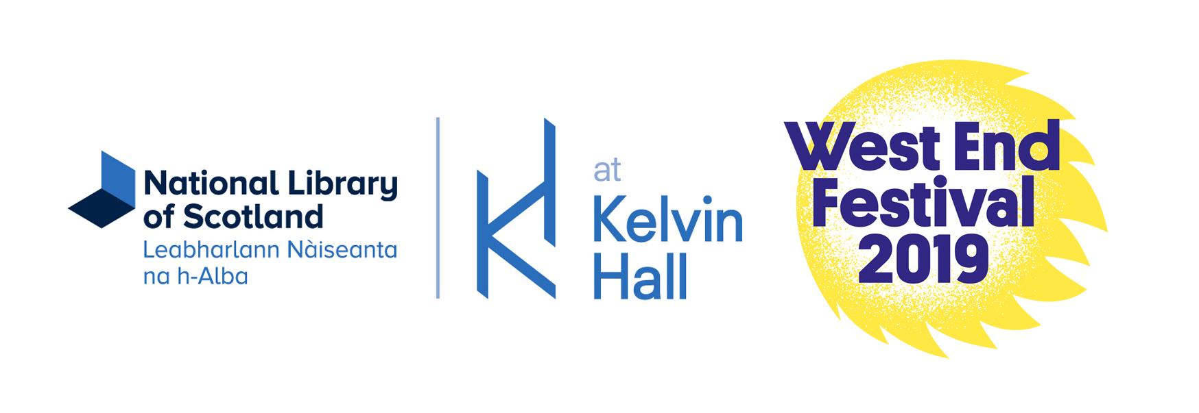 Library Kelvin Hall West End Fest logos