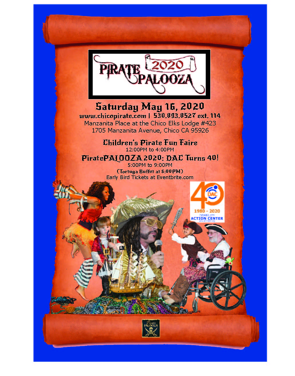 PiratePALOOZA 2020 Event Poster
