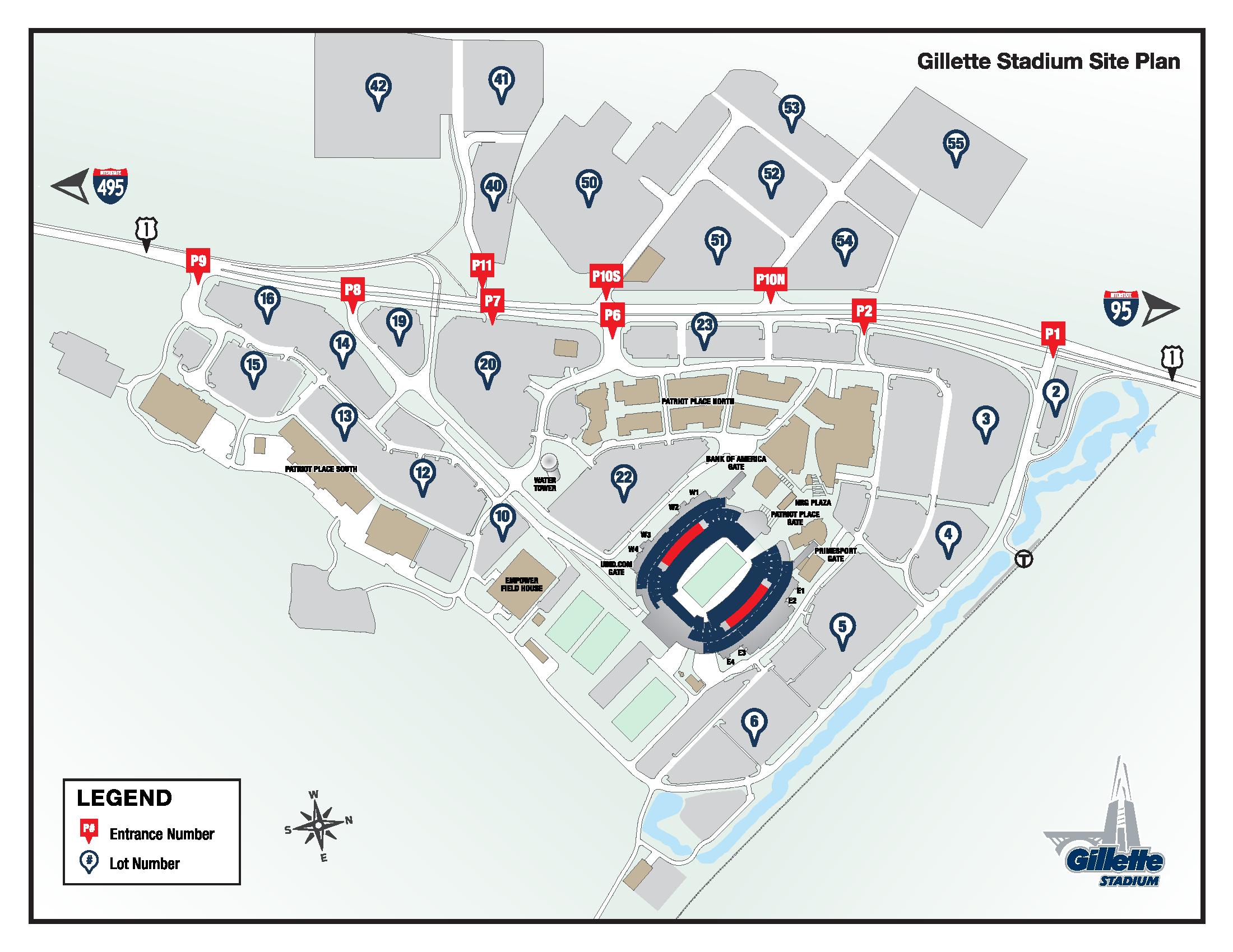 Gillette Stadium Parking