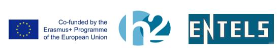ENTELS. Erasmus+ and H2 learning logos