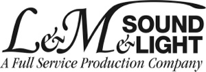 L&M Sound & Light logo