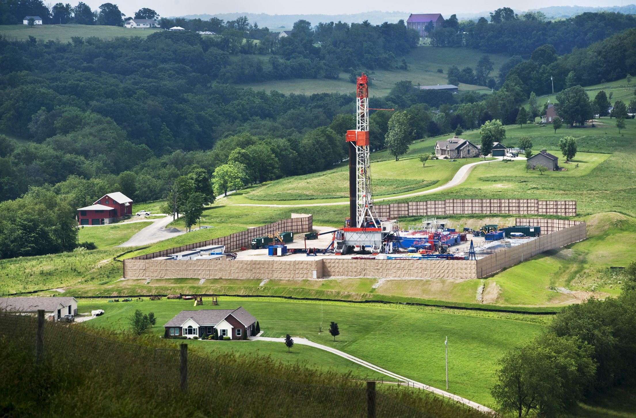 Natural gas well in Appalachia
