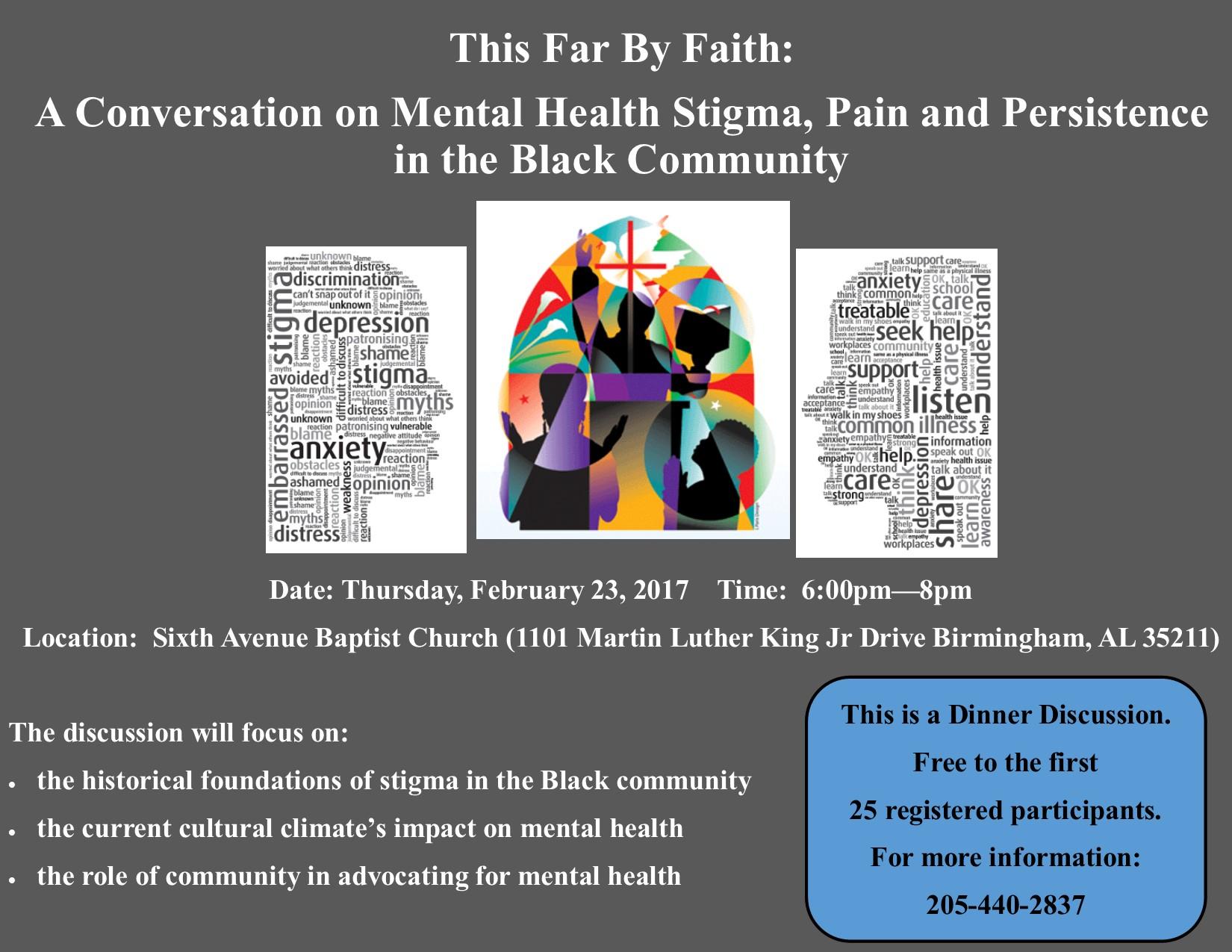 this far by faith a conversation on mental health stigma pain description