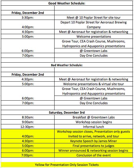 Boston Agritecture Workshop Schedule