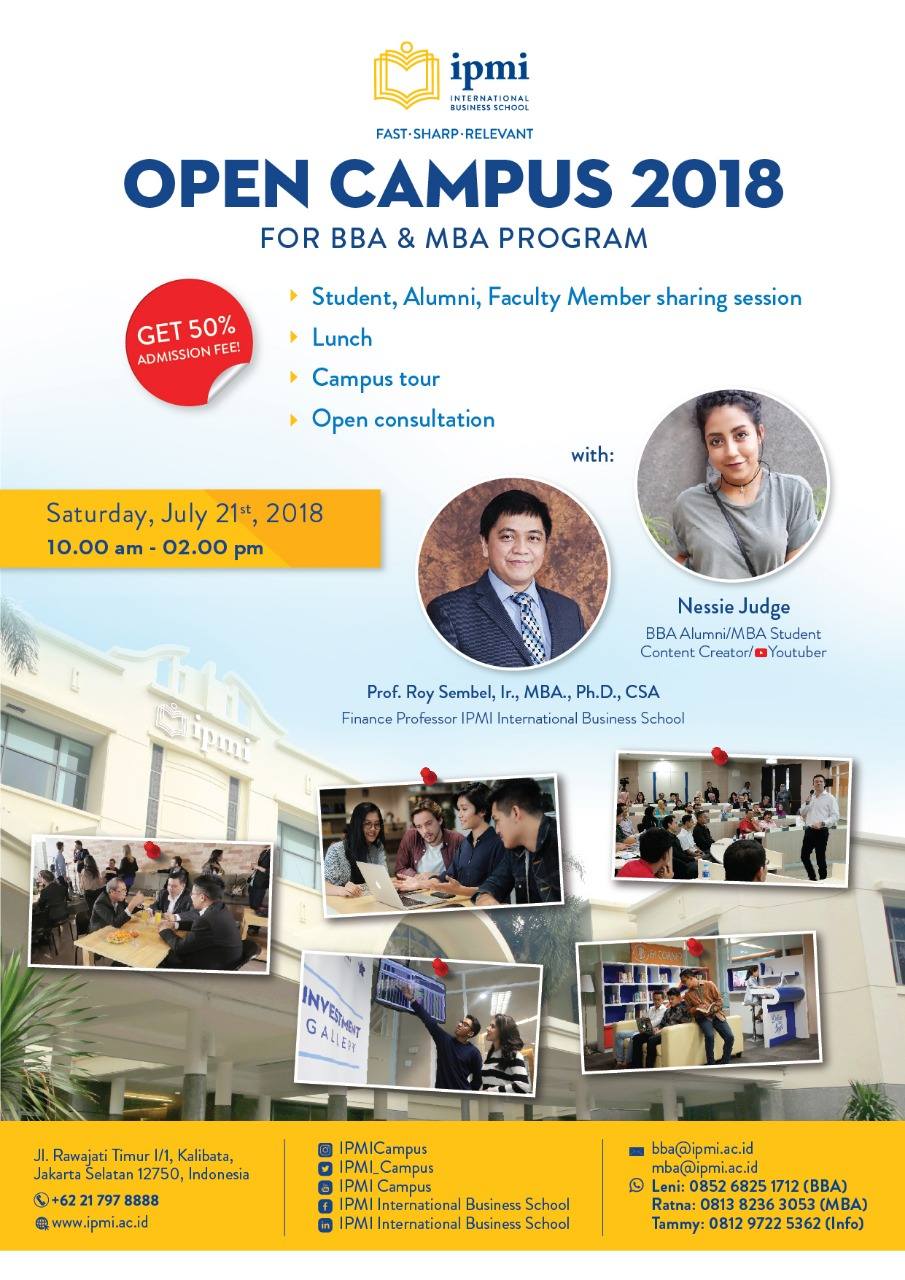 IPMI Open Campus 21 July 2018