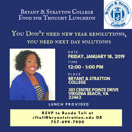 Bryant andn Stratton Jan 2019 Food for Thought Luncheon