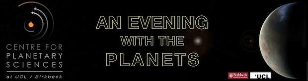 An Evening with the Planets 2017 advertising image