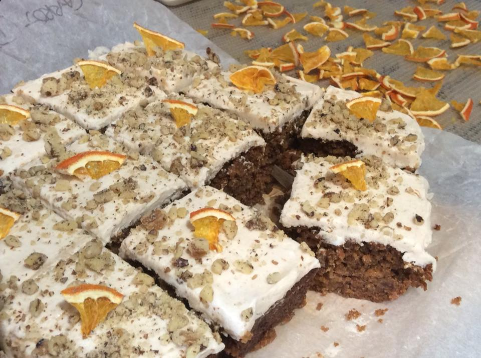 Cakewhole Gold Award winning Vegan Carrot Cake