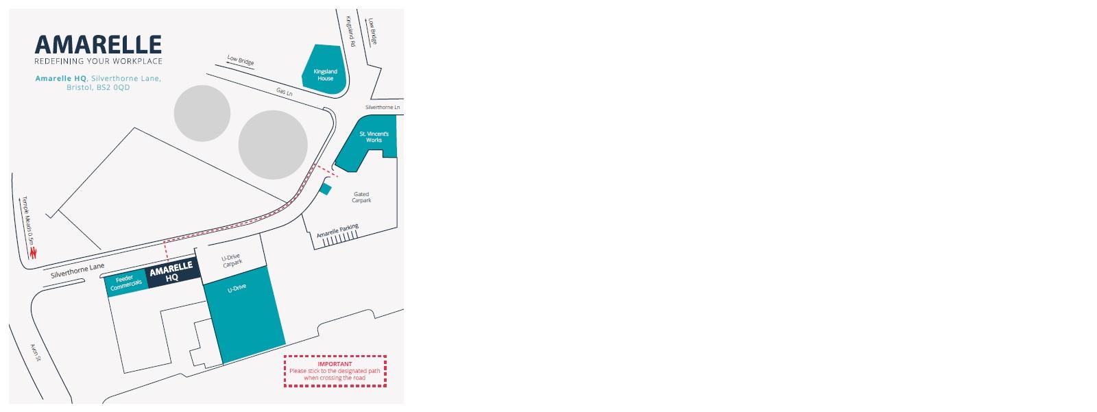 Amarelle Vistor Road Map